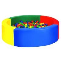 Круглый сухой бассейн (4-хцветный) 1800х400х150