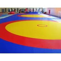 Борцовский ковёр 12х12х0,05м,Трёхцветный
